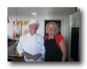 Chef Dan and Clare Bobo